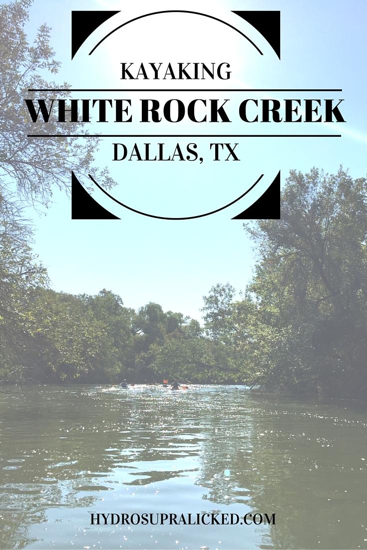 Kayaking in White Rock Creek