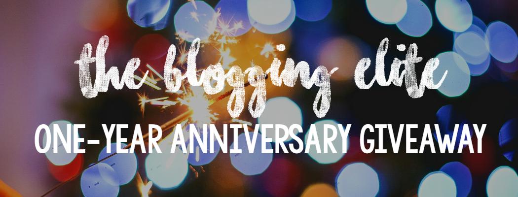 Blogging Elite 1 year Anniversary Giveaway